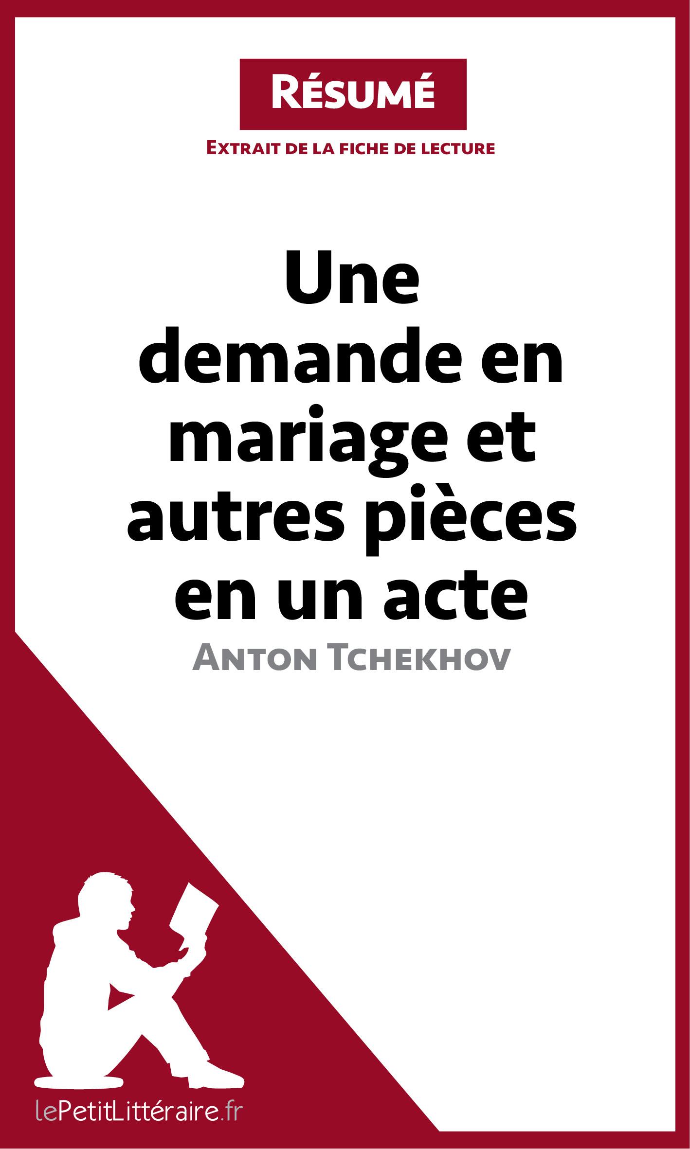 Une demande en mariage et autres pièces en un acte